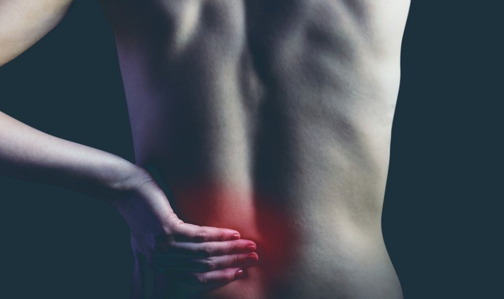 the red spot of back pain