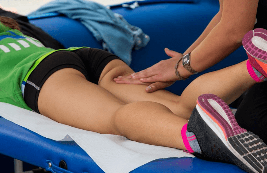 a sport massage for a athlete