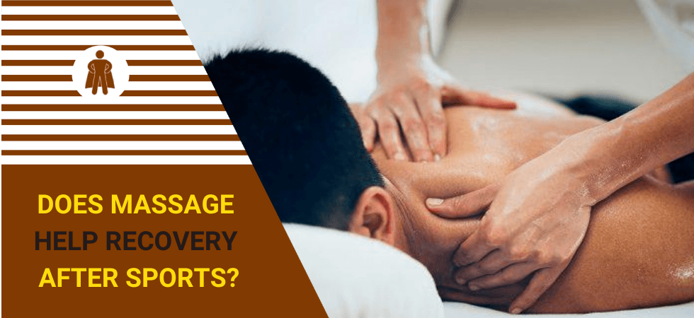 a guy is using a sport massage method