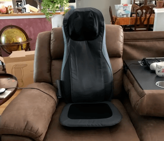 Full Back Massage Seat Cushion on couch