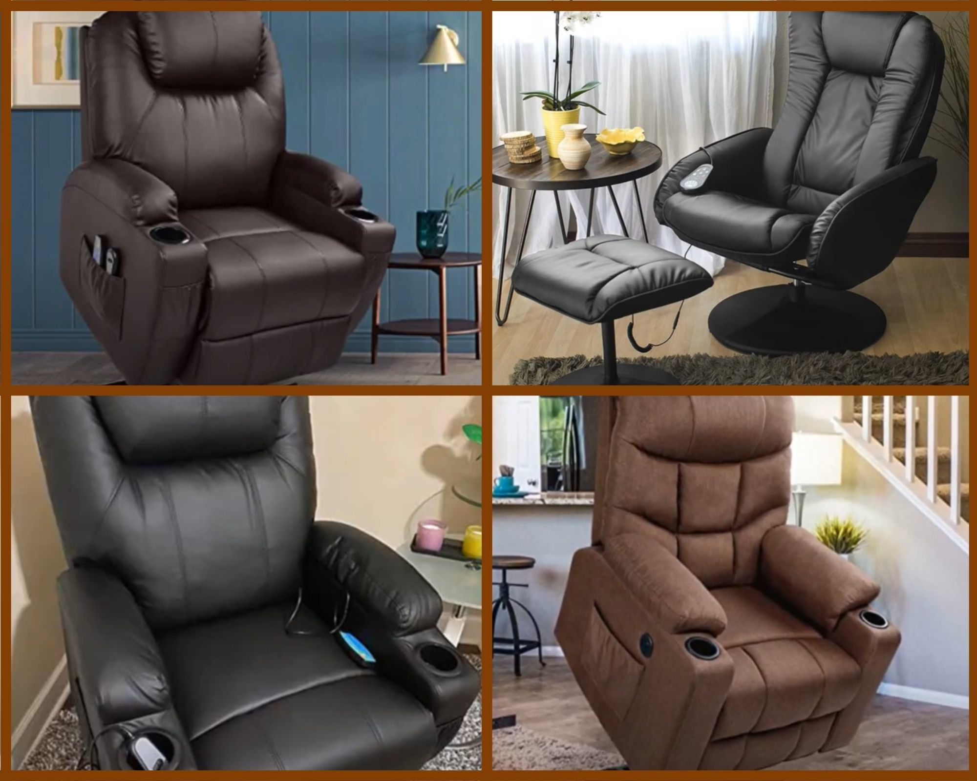 many types of common massage chairs