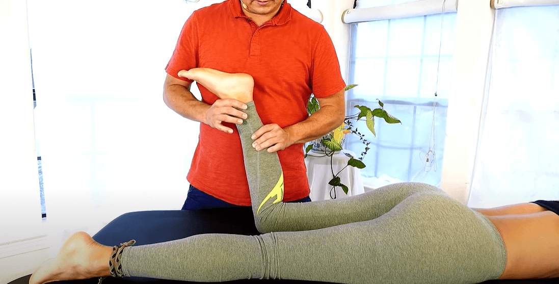 Sport massage therapy treatment for woman