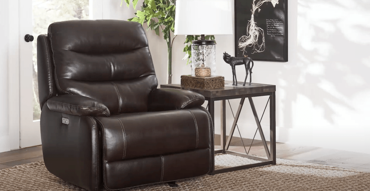 Glider recliners  in the room