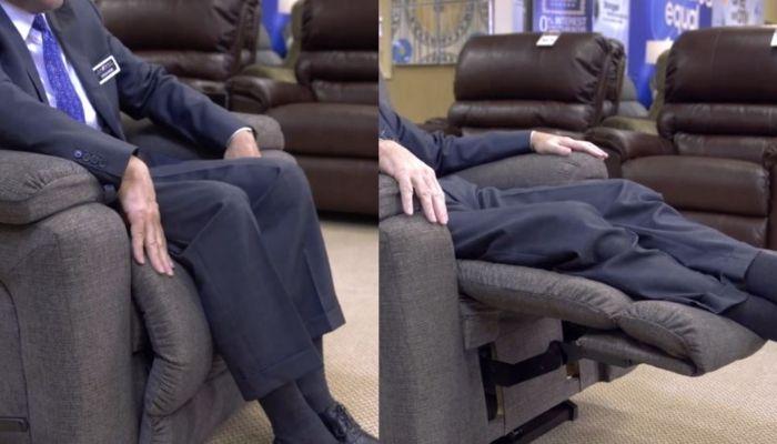 Man using a recliner