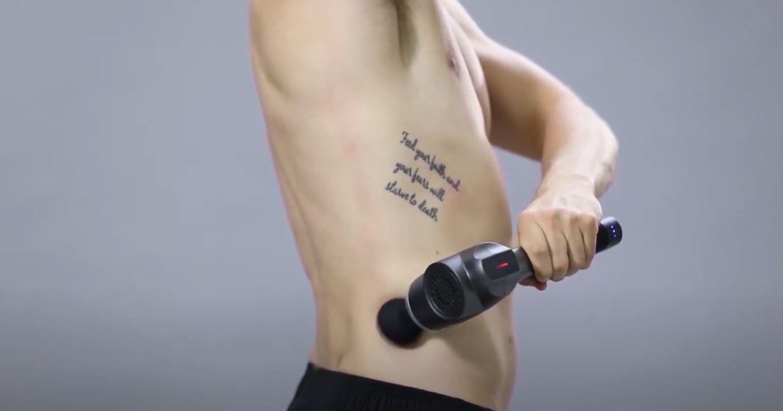 massage gun after workout